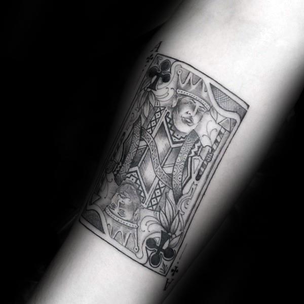 b6615f610d08a 90 Playing Card Tattoos For Men - Lucky Design Ideas