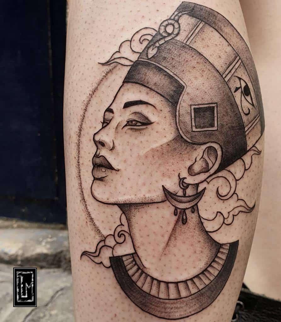 Dotwork Nefertiti Tattoos Lea.nfurter