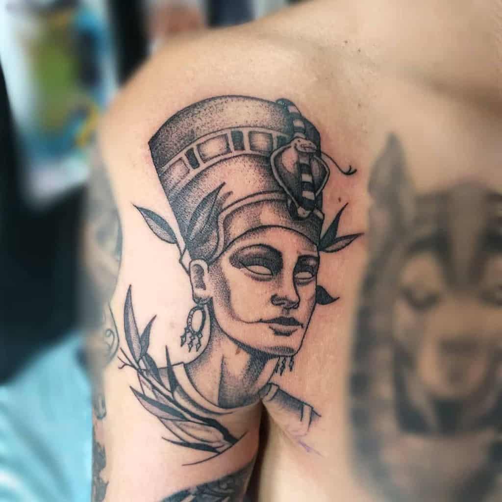 Dotwork Nefertiti Tattoos Randallgarciatattoos