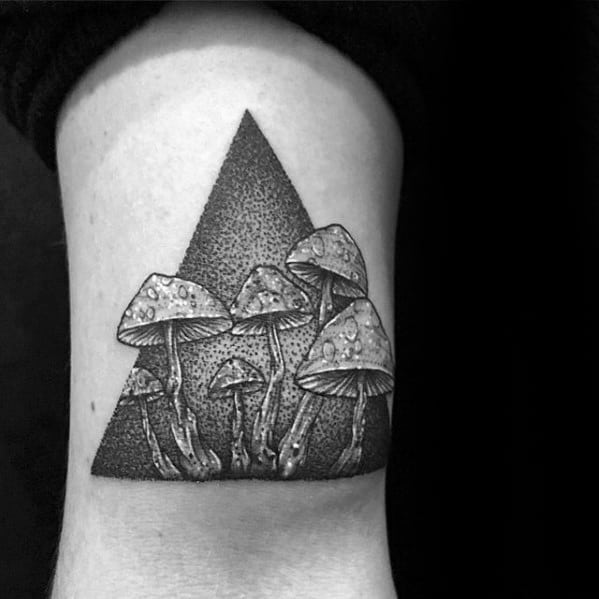 60 Mushroom Tattoo Designs For Men Fungus Ink Ideas