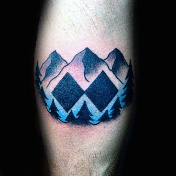 Double Black Diamond Skiing Mens Inner Arm Tattoos