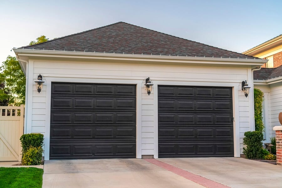 Contemporary Wood Home Design Ideas Garage Door