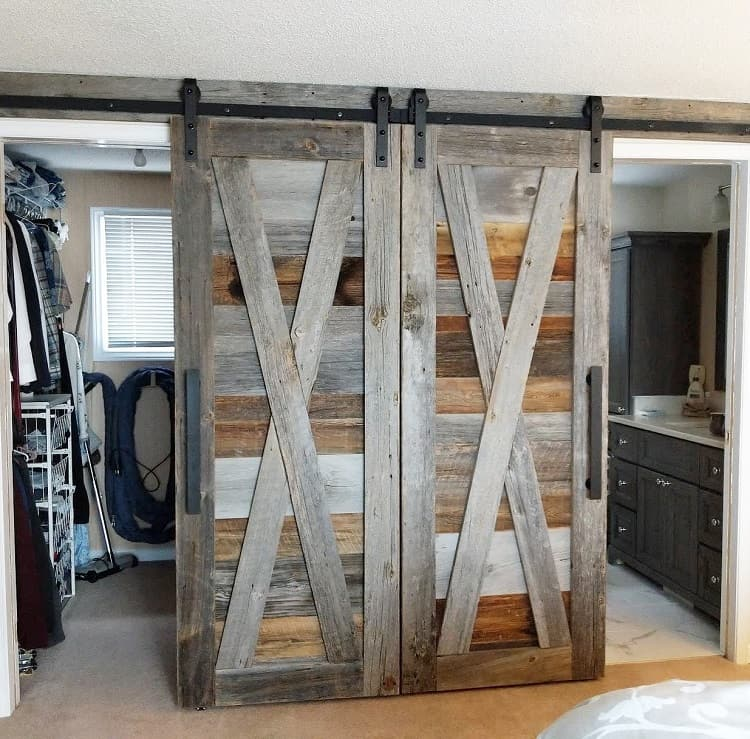Double Closet Barn Door Loftdoors