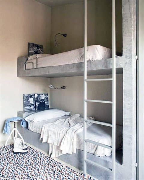 Double Concrete Bunk Bed Ideas