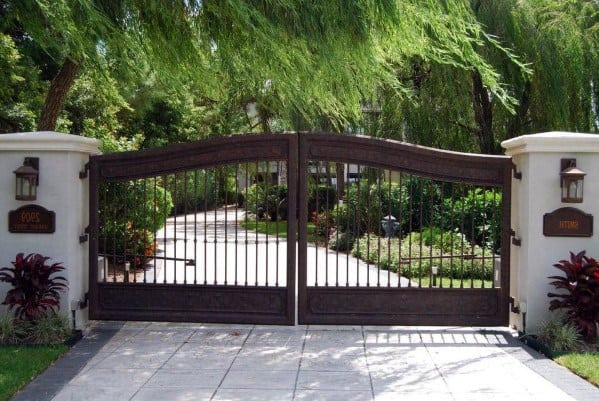 Double Driveway Gate Idea Inspiration