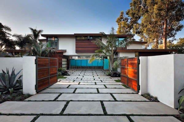 Double Driveway Gate Ideas Modern Homes