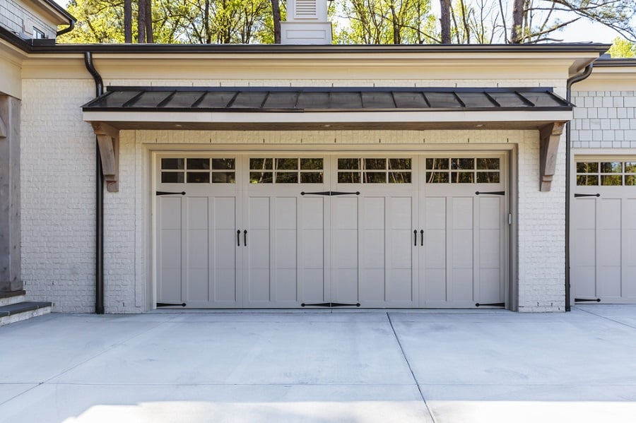 Copper Metal Contemporary Garage Door Design Ideas