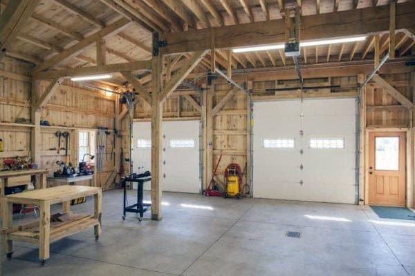 Double Garage Door Workshop Ideas