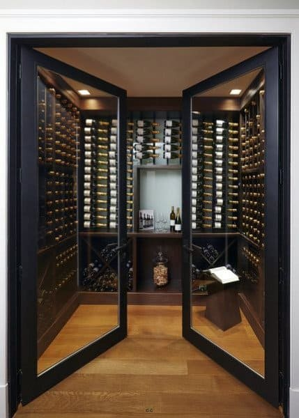 Double Glass Door Wine Room Ideas