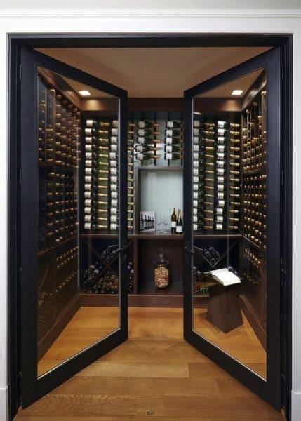 Double Glass Door Wine Room Ideas