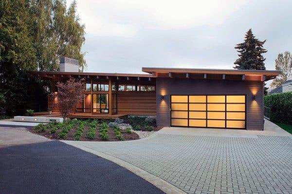 Double Outdoor Garage Lights
