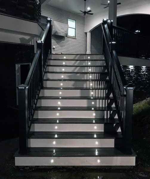 Double Round Small Staircase Led Deck Lighting