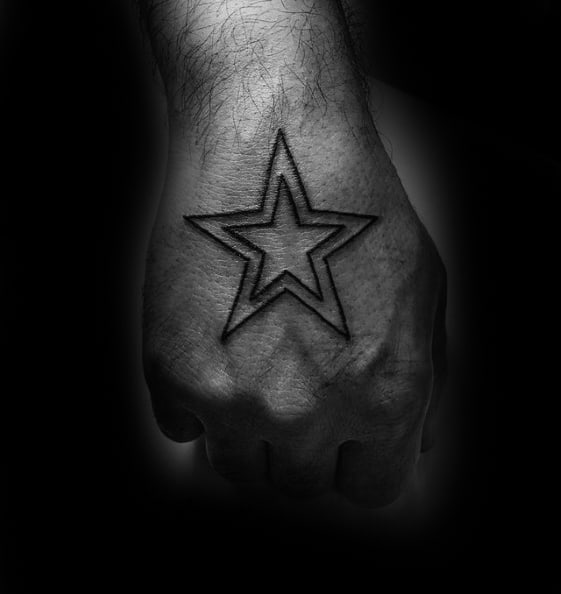 40 simple star tattoos for men luminous ink design ideas. Black Bedroom Furniture Sets. Home Design Ideas
