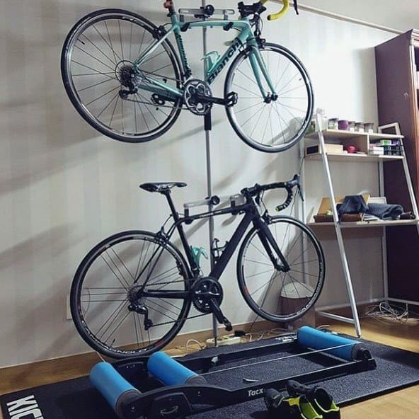 Double Wall Bicycle Storage Ideas