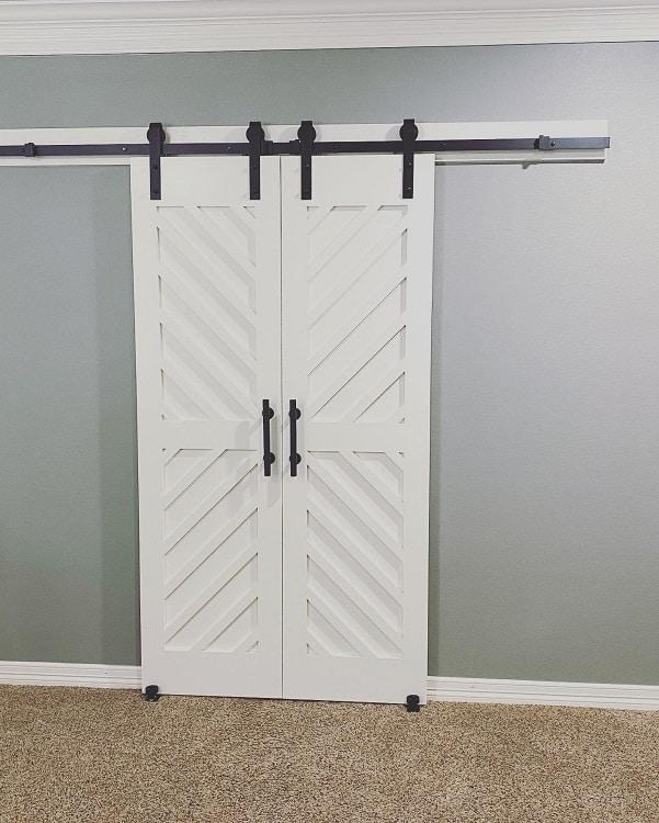 Double White Barn Door