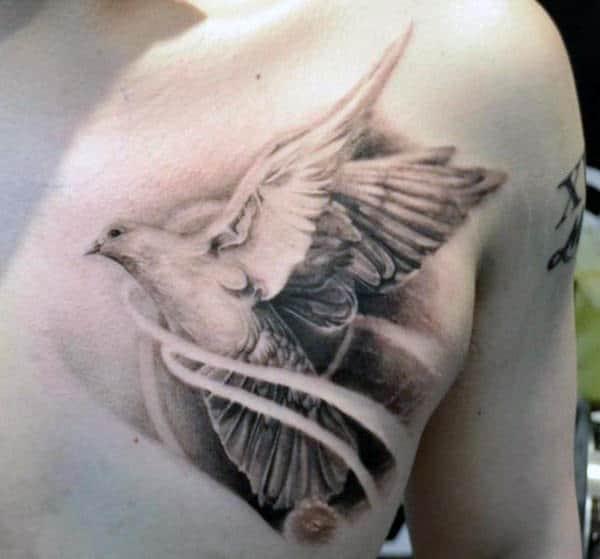 Dove Tattoos For Men For Guys On Chest