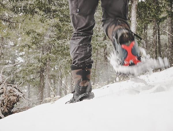 Downhill Traction Over Deep Snow Msr Lightning Ascent Snowshoes Review
