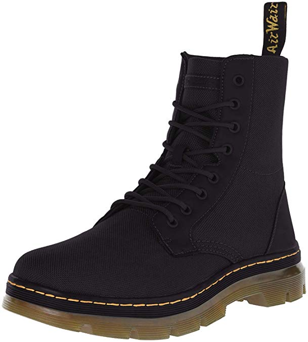 dr. martens mens combs nylon combat boot