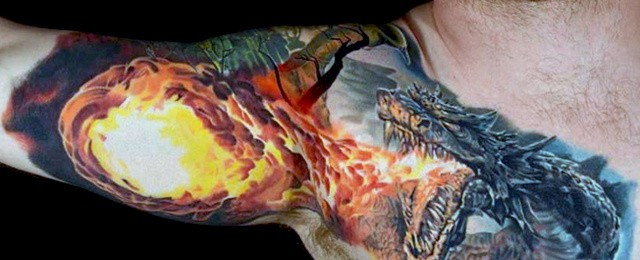 Dragon Arm Tattoo Designs For Men