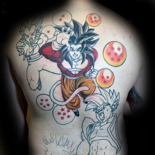 Dragon Ball Z Full Back Anime Tattoos For Gentlemen
