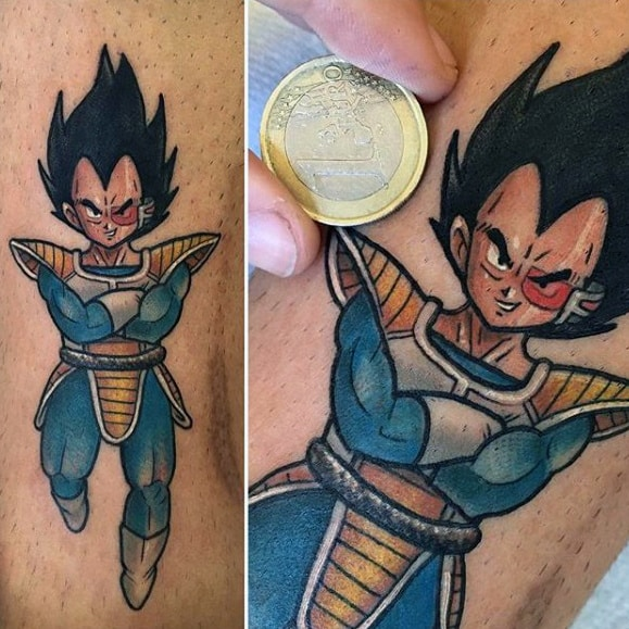 Small 8 Ball Tattoo: 40 Vegeta Tattoo Designs For Men