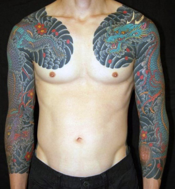 Dragon Chest Tattoo For Men