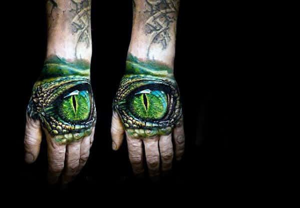 Dragon Eye Ultra Realistic Guys 3d Tattoos On Hands