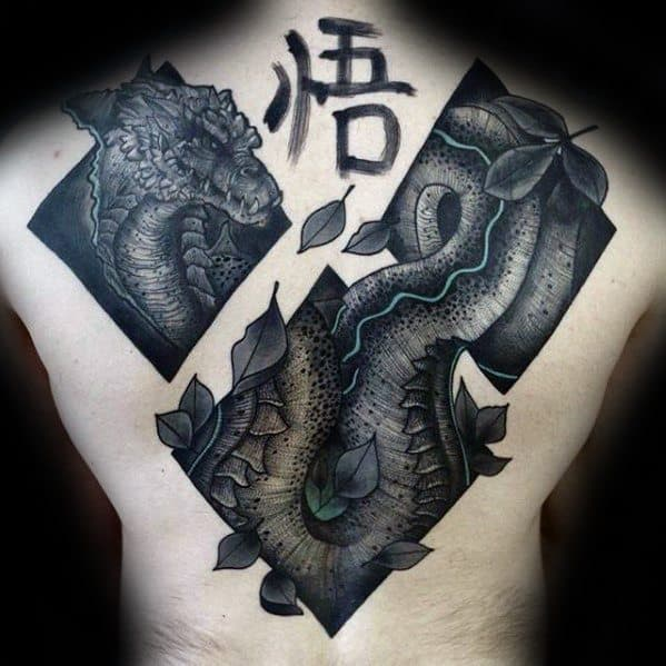 Dragon Guys Awesome Back Tattoo Design Ideas