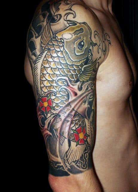 798c3d2d8b619 50 Koi Fish Tattoo Designs For Men - Japanese Symbol Of Masculinity