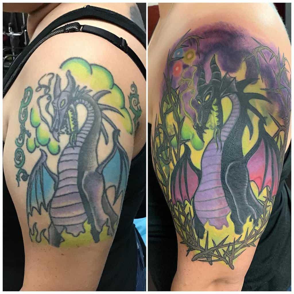 Dragon Maleficent Tattoos Justdeadlytattoo
