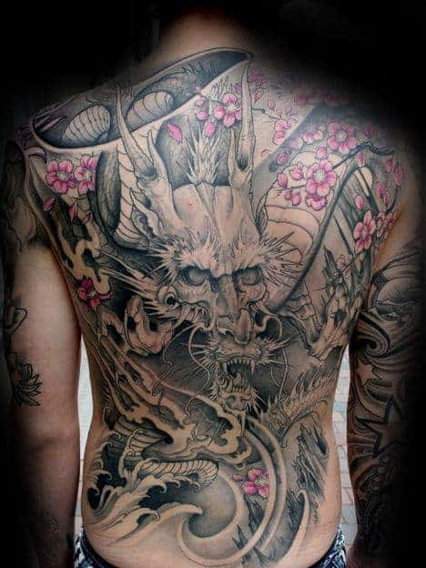 dragon-mens-full-back-cherry-blossom-flower-tattoos