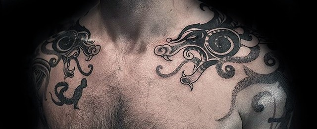 40 Dragon Shoulder Tattoo Designs For Men Manly Ink Ideas