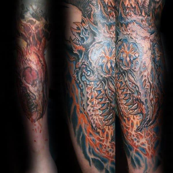 Dragon Skull Guys Tattoo Ideas