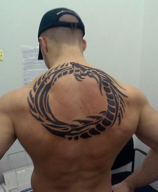 Dragon Tribal Mens Back Tattoos