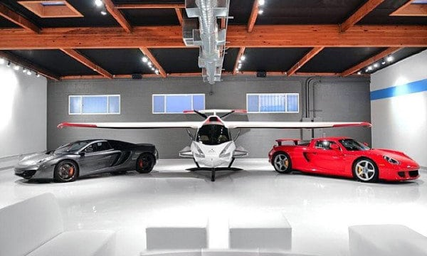 Dream Beautiful Garages With Private Plane