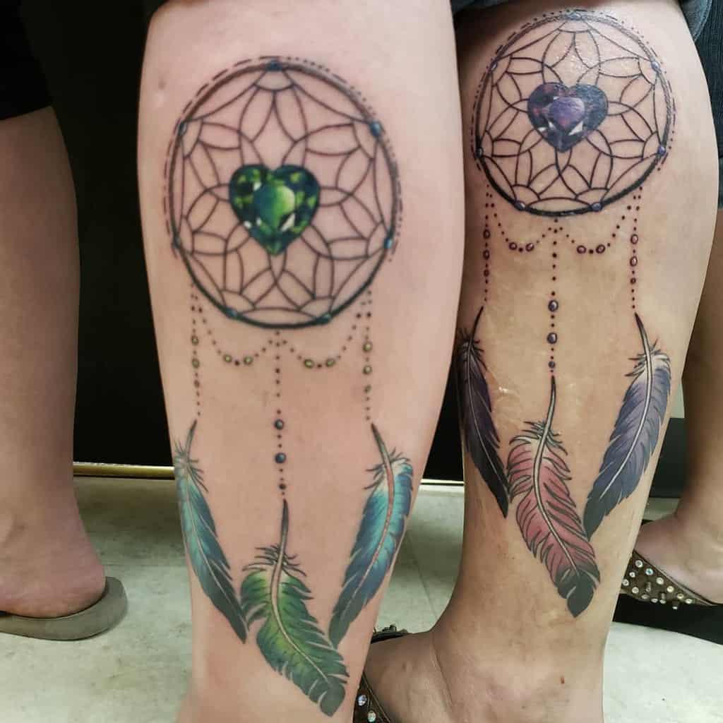 dream-catcher-mother-daughter-tattoo-tattoosbyroachzilla