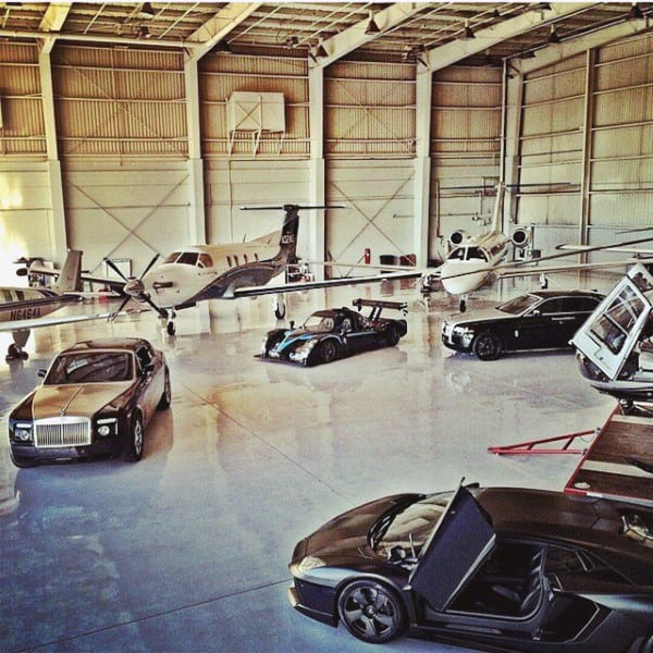 Dream Garage Hanger With Privat Jets And Exotic Cars