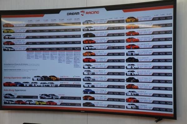 Dream Racing Car Selection