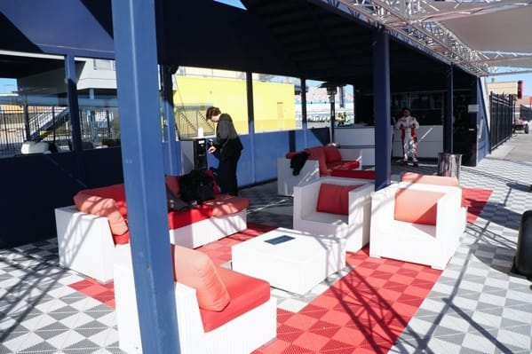 Dream Racing Outdoor Seating Area By Race Track