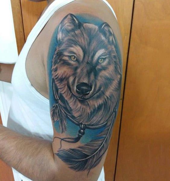 Dreamcatcher Tattoos Men Upper Arm