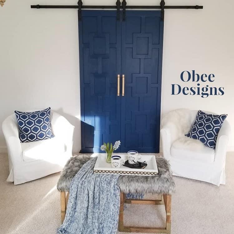 Dressing Room Blue Painted Barn
