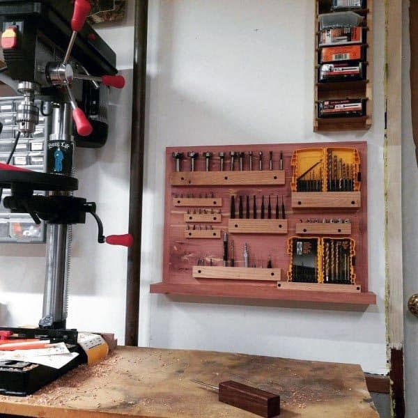 Drill Bit Holder Rack Tool Storage Ideas