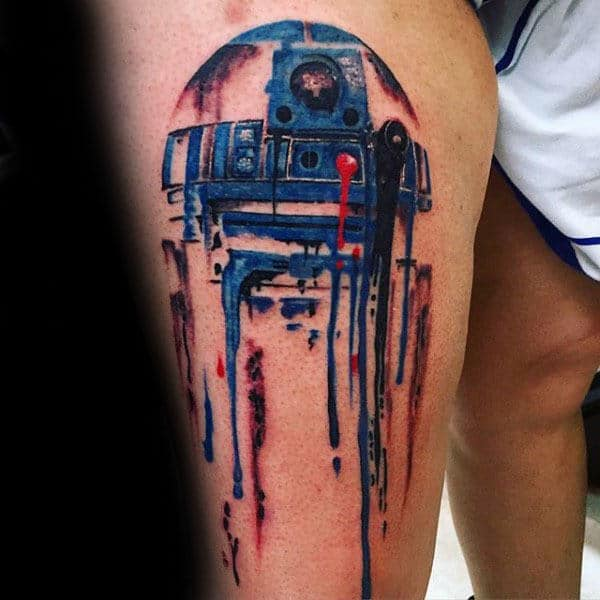 60 r2d2 tattoo designs for men robotic star wars ink. Black Bedroom Furniture Sets. Home Design Ideas