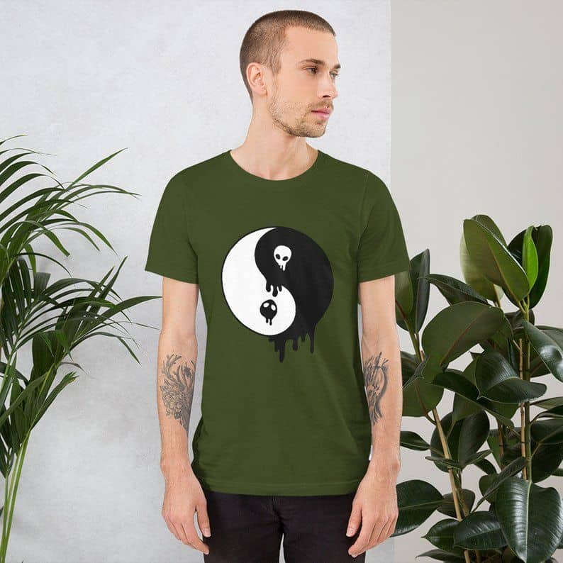 90s drippy alien yin yang unisex t shirt