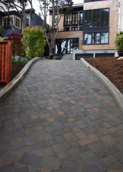 Driveway Landscaping Entrance Modern
