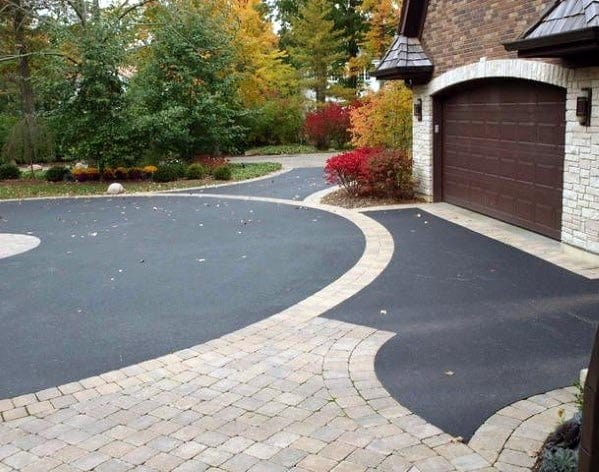 Driveway Edging Stones With Asphalt