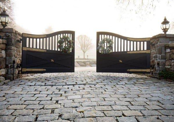 Driveway Entrace Double Gate Ideas