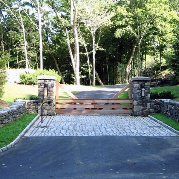 Driveway Gate Ideas Low Height Wood