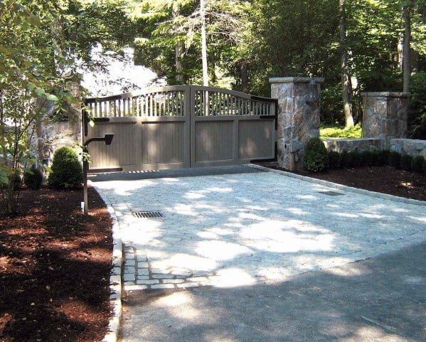 Driveway Gate Ideas Painted Wood