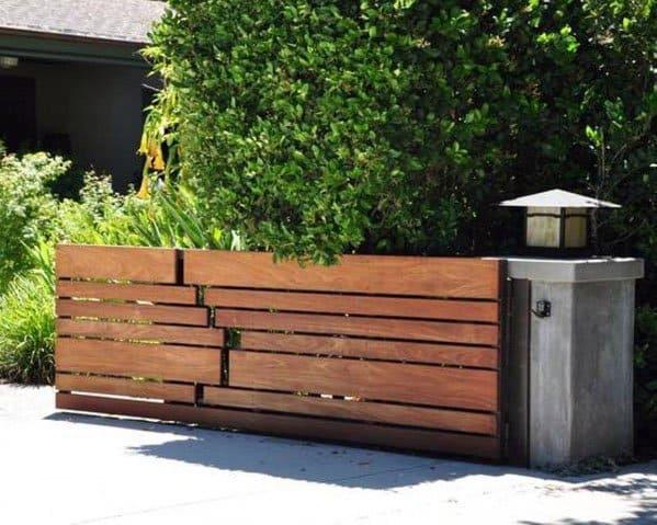 Driveway Wooden Gate Design Ideas